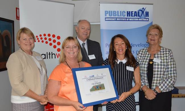 Colin Pettit with City of Melville - winners of the 2015 Children's Consultation award