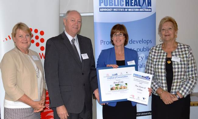 Colin Pettit with Shire of Collie - Commendable winners of the 2015 Children's Consultation award