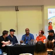 Discussion panel with renowned NZ artist Michael Tuffery (middle) - Children, Young People and the Arts Seminar