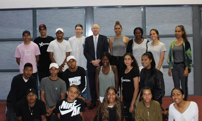 The young people involved in the Xpression modelling and mentoring program