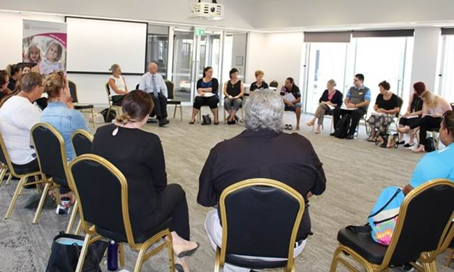 Professor Jane Burns meeting with key Aboriginal stakeholders and professional in Geraldton