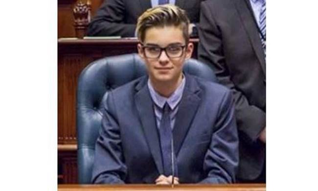 Oscar attending Youth Parliament