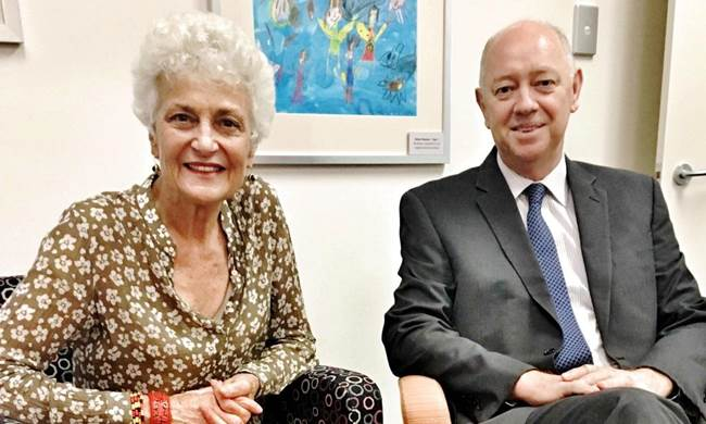 Professor Fiona Stanley with the Commissioner Colin Pettit