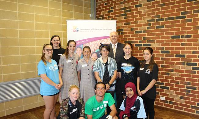 North metropolitan Advisory Committee - a group of 15 young people from Girrawheen Senior High School, Sacred Heart College and Balga Senior High School and the local area.