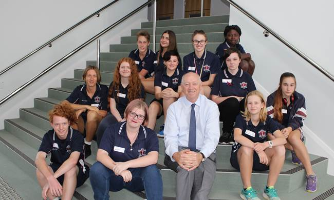 The Commissioner with the Bunbury Senior High School Advisory Committee